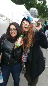 Chicago Do-ers enjoying Alo drink samples from Norman Distribution