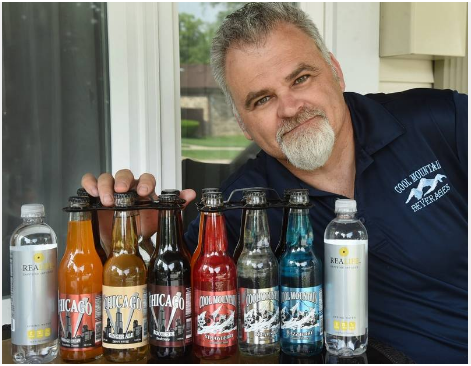 Craft soda company pouring an iconic brand